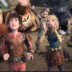 Hiccup looks so happy and excited :)