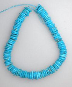 Real Sleeping Beauty Turquoise 6 to 7 mm Heishi Beads