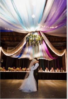 Premium tulle fabrics tons of colors great price. http://www.bliss-bridal-weddings.com/#!premium-tulle-/c1101 #tulle #weddingreception #weddingdecorations #ceilingdrapery