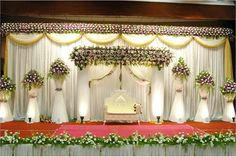 1 white color pakistani stage decoration ideas for wedding