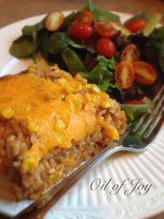 E - Chicken enchilada Casserole - easily make this dairy free! Very allergy friendly! Wheat free, egg free, nut free!