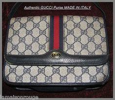 be380478a68a60 Vintage Gucci Handbag Monogram Purse Crossbody Shoulderbag 100 Genuine Navy  Red Handbags Online, Gucci Handbags