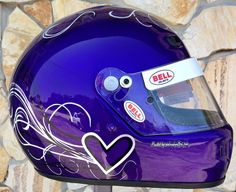 Bell race helmet design and painted by don johnson, www.airbrushgallery.com, woman's design