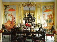 Ann Getty's dining room in her home in San Francisco