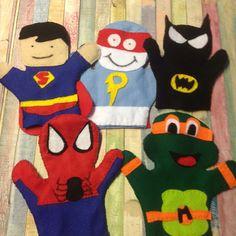 Diy hand puppet superheroes