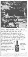 Jack Daniel Distillery 1963 Ad Picture