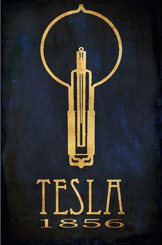 Nikola Tesla Poster.