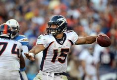 SAN DIEGO, CA - NOVEMBER 27:  Quarterback Tim Tebow #15 of the Denver Broncos throws the ball against the San Diego Chargers during the Broncos 16-13 overtime win in their NFL Game on November 27, 2011 at Qualcomm Stadium in San Diego, California  (Photo by Donald Miralle/Getty Images)