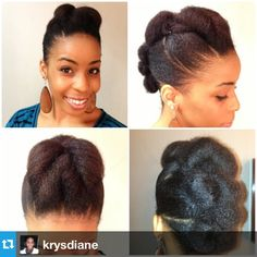 Natural Hair Daily, We love your updo @Crystal Tibbo! #naturalhair...