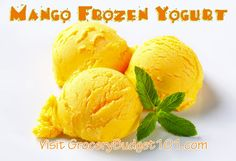 Easy Machine Free Mango Frozen Yogurt