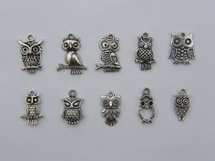 The Ultimate Owl Charms Collection   10 different by nicoledebruin, $3.50