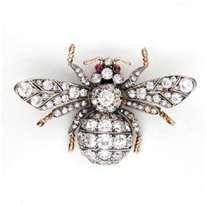 Diamond Bee Brooch, Faberge Jewelry
