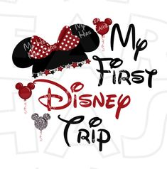 My First Disney Trip Minnie Mouse Ears INSTANT DOWNLOAD Digital Clip Art DIY For Shirt