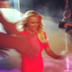 Took this today at x factor auditions in Austin.... BRITNEY SPEARS ❤❤ Really blurry because she was walking so dang fast