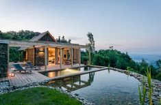 """Stadl Altenbach is a historic """"Kellerstöckl"""" (an agricultural building) transformed into a wellness retreat in southern Styria, Austria. Crazy Houses, Agricultural Buildings, Villa, Container House Plans, Vacation Spots, Places To Visit, House Design, Mansions, House Styles"""