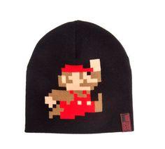 Gorro de punto Súper Mario Bros, personaje Gorro unisex y de punto, para poder llevar este invierno a tu ídolo del video juego siempre contigo.