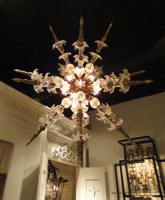 a stunning take on the modern sputnik reinvented with venetian style. seen in the Luna Bella showroom. #hpmkt