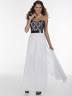 Pretty Maids Bridesmaid Dress 22605 - Official dress of my Maid of Honor, in black lace and Hunter Green.