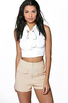 Paige Flat Pocket Zip Front Short