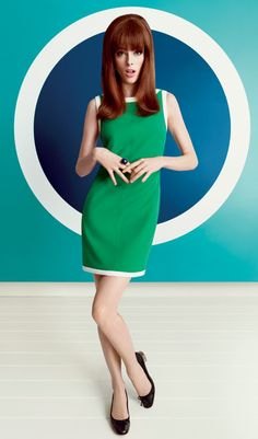 Love this Green dress!  Mod Fashion From Banana Republic  http://www.brthemagazine.com/make-it-mod