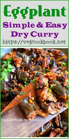 Simple & Easy Dry Curry with Aubergine / Eggplant (Stove top, Air fryer) #vegcookbookbypraveena #praveena #vegcookbook #vegan #vegetarian #easy #quick #lowcals #lowcarbs #weightloss #lowcals #lesscalories #keto #kids #friendly #eggplant #aubergine #recipe #recipes #curry #airfried #airfryer #stovetop #vankaya #podi #koora #southIndian #Indian #food #foodie #dry #simple #homemade #cooking #zeroOil #oilFree #fatfree #plantbased #dairyFree #wfpb #wfpbno #andhra