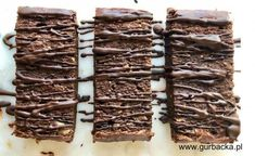 proteinowe_brownie_1 Healthy Sweets, Gluten Free, Cooking Recipes, Candy, Chocolate, Food, Get Skinny, Diet, Kuchen