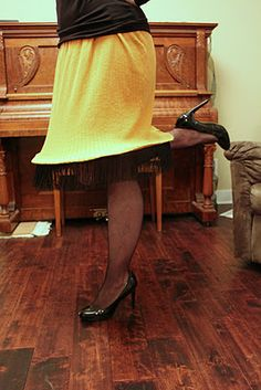 A Christmas Story party -- Leg lamp costume
