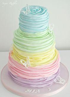 Wedding Cake Ideas: Sugar Ruffles