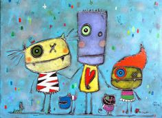 Julie Miville Julie, Art Plastique, Art Reproductions, Painted Rocks, Crafts For Kids, Images, Doodles, Rock Painting, Portraits