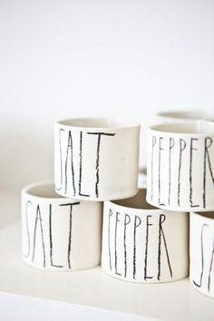 Martha Stewart loves these charming ceramics by Berkeley-based ceramist Rae Dunn.