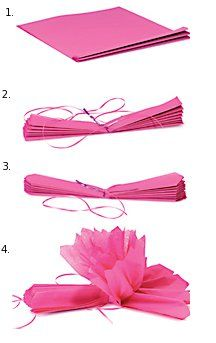 explication pompon papier DIY