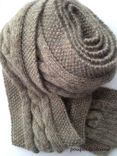8041547e7b03 Beautiful scarf, free pattern in French by poupoupidame Tricot Écharpe  Homme, Tricot Headband,