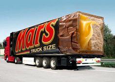 Mars bar truck wrap