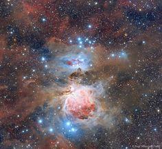 Foto reciente de la nebulosa en la constelación de Orión a 1600 años luz.