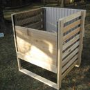 Here's an instructable for creating your own wood framed, bottom access compost bin. It's worked great for our family for going on six years now, and it is fairly low ...