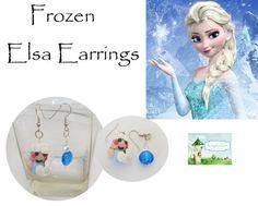 Fairytale Frozen Elsa Earrings super cute #Handmade