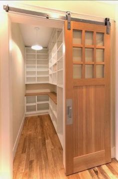 Sliding door to a walk in closet, this is gorgeous! by katharine