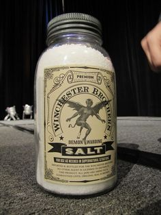 "Premium Winchester Brothers Demon Warding Salt  For use as needed in ""SUPERNATURAL"" situations only!!"