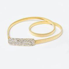 Thin Rhinestone Chain Belts