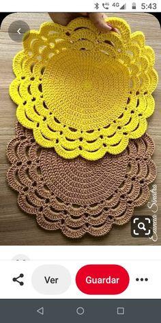 Crochet Placemat Patterns, Crochet Table Runner Pattern, Crochet Vest Pattern, Crochet Tablecloth, Doily Patterns, Crochet Doilies, Easy Crochet Hat, Diy Crafts Crochet, Crochet Home