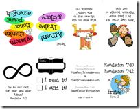 Full page verse printables, verse mini book, copy work tracers, copy work sheets, coloring sheets.