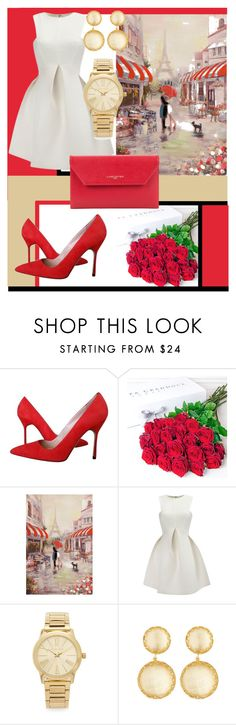 """Valentine's date!!!"" by imajaa ❤ liked on Polyvore featuring Manolo Blahnik, Philippa Craddock, WithChic, Michael Kors, Larkspur & Hawk, Lancaster, women's clothing, women, female and woman"