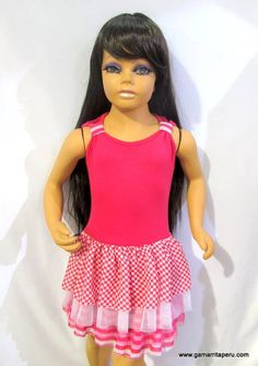 Perikittos Fashion Girls - Vestido con detalles en tull fucsia - Gamarrita Perú  S/.28.00.