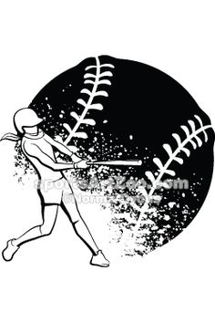 Sports Art Zoo - Girl Softball Batter.  If you want to use this design please pay for it. It is not expensive.