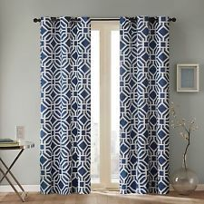 Add a bold touch of color to your room with this geometric print polyester curtain panel. This Intelligent Design grommet curtain panel is unlined, but it still serves as an energy efficient way to ke Curtains Living, Room Darkening Curtains, Bedroom Curtains, Pleated Curtains, Grommet Curtains, Blackout Curtains, Target Curtains, Grey Curtains, Intelligent Design
