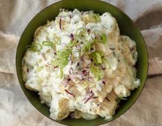 Mammas potetsalat - Hyggelig mat Baguette, Potato Salad, Food And Drink, Potatoes, Pasta, Snacks, Dinner, Ethnic Recipes, Christmas Decorations
