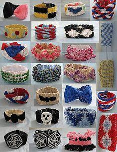 Ravelry: Free Crochet Bracelet E-Book pattern by Donna Collinsworth Crochet Jewelry Patterns, Crochet Accessories, Bracelet Patterns, Crochet Cross, Thread Crochet, Diy Crochet, Bow Bracelet, Crochet Bracelet, Wrap Bracelets