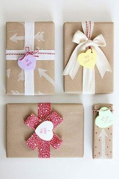 Bow-Tied Valentine Gift Packing Idea