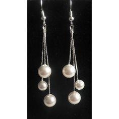 herrliche Ohrringe Perlen an Sterling Silber Ketten