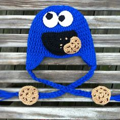 Cookie monster hat by Mama Keen Crochet on Facebook